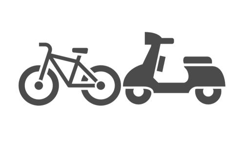 オートバイ・自転車の保管場所として